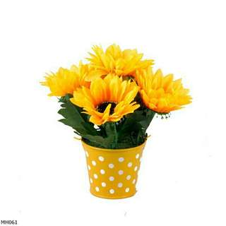 Buket Bunga Matahari Mini Vas Ember