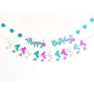 Mermaids Bunting - Birthdays / party / baby shower / weddings / kids / celebration / mermaid theme