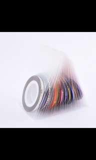 Tape Line Nail Arts