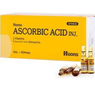 HUONS Ascorbic Acid Vitamin C pure 500mg/2ml each ampoule