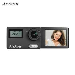 Andoer AN300 4k Wi-Fi 16MP Action Sport Camera Novatek 96660 Dual Display