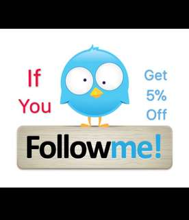 5% Off For All  Followers