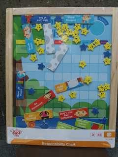 Wooden Responsibility Chart Montessori Toy