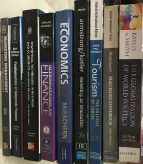 Textbooks for NUS Economics, Finance, Statistics & Marketing Management books