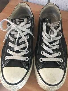 舊帆布鞋 converse 正 24.5