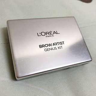 巴黎萊雅L'ORÉAL 專業訂製眉彩盒#01深色系