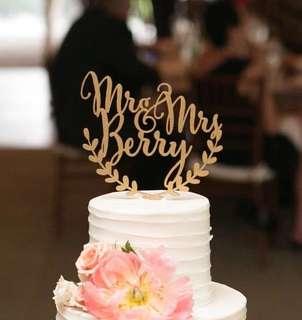 Cake Topper - Birthday / Wedding / celebration