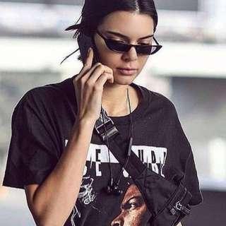INSTOCKS cyborg sunglasses shades sunnies retro vintage - black