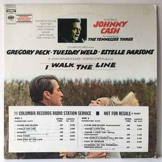 Johnny Cash Accompanied By The Tennessee Three – I Walk The Line (Original Soundtrack Recording) (1971 USA Original - Vinyl is Mint)