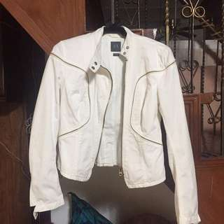 Armani Exchange white jacket