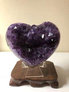 烏拉圭5A紫水晶愛心