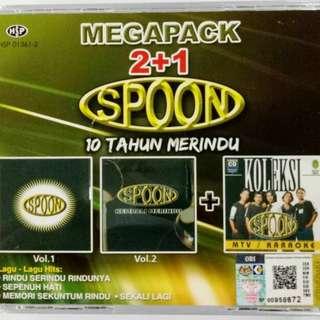 SPOON Megapack 10 Tahun Merindu 2CD + 1VCD Karaoke
