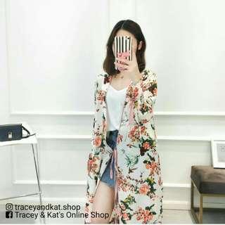 Floral Long Blazer