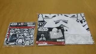 Star Wars 白兵圖案方型毛巾、披肩