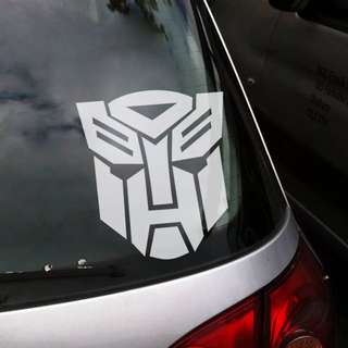 Transformers car decal / wall decal stickers deco