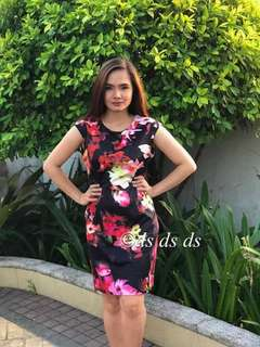 Pre Order Floral Dress Php 380 🌺🌺color:black  🌸🌸fabric:cotton spandex 🌼🌼freesize fits up to L#ds
