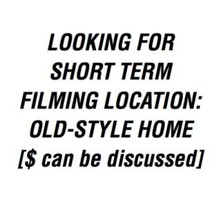 Looking for: Old-style HDB/home for filming purposes (short term rental)