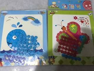 Button art for preschoolers