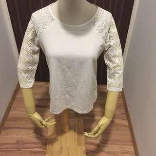 Zalora White Lace Shirt
