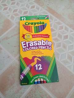 Crayola Erasable Colored Pencils 12 ct