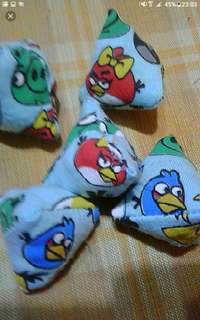 Angry birds five stones   As featured in Northeast zone Vibes magazine, Zaobao newspapers    Children Party Favours Five Stones old School Kampong Game