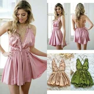 Summer Dresses Backless Party Dress Open back Women Solid Sexy Sleeveless Slim Dress Beach Dress Vestidos