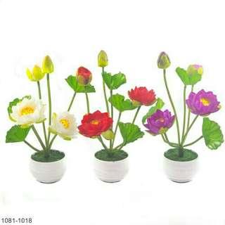 Buket Bunga Teratai Vas Melamin