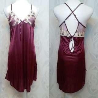 🚚 紫色 絲質性感 睡衣