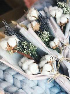 Lavender and cotton Mother's Day bouquet
