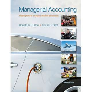 【Soft Copy】Managerial Accounting Creating Value in a Dynamic Business Environment 10th Tenth Edition