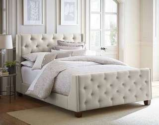 Tufted Headboard and Footboard Bed frame