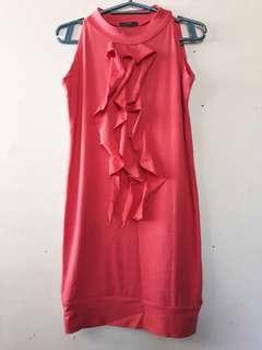 Pink shaffle dress