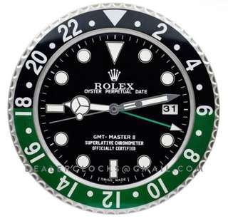 Rolex GMT Master II Wall Clock Black-Green 116710
