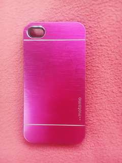 pink motomo casing for iPhone 4/4s