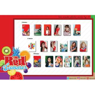 RED VELVET RED SUMMER RED FLAVOR UNOFFICIAL PHOTO CARDS