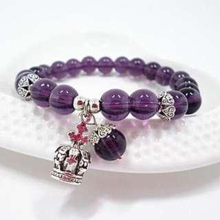 紫水晶皇冠 手鍊 #一百元好物