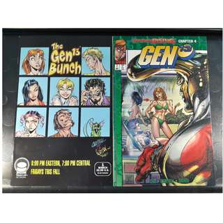 Gen 13 Vol 2 #1 (Brady Bunch Cover) & #2