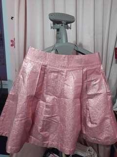 Asos metallic pink skirt