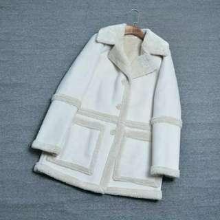 Ladies Winter Faux Shearling Coat!