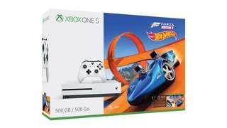 Xbox one s hotwheels game 500gb local set