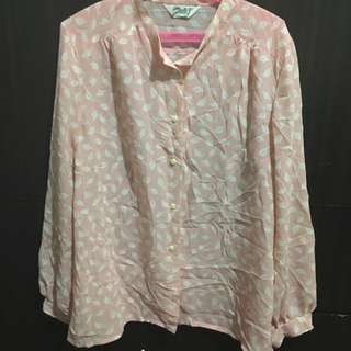 Feather Printed Pink blouse