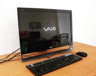 Sony Vaio 24 inch all in one pc core2duo 4gb ram windows 10 1TB hdd Free Deliver