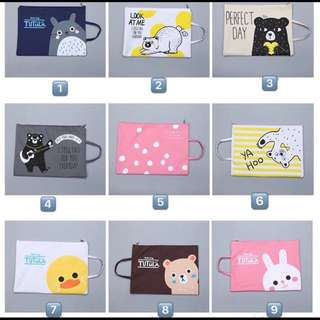 ✨Zipper bags✨cute A4 size