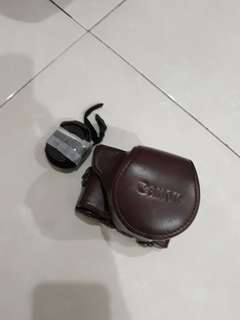 Leather canon m10 / pelindung kamera mirroles canon m10