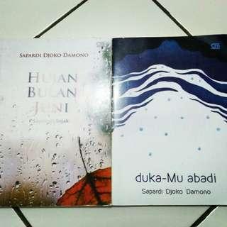 Paket Buku Hujan Bulan Juni & Duka-Mu Abadi - Sapardi Djoko Damono