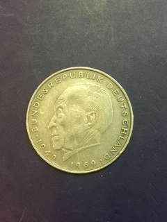 Germany 2 Mark Year 1969, Vf