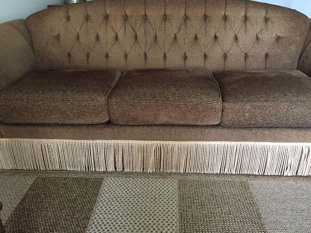 3 Seater Elegant Sofa Furniture Sofas On Carousell