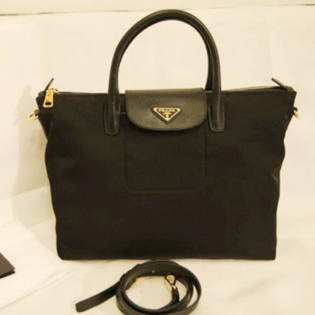 342ca3ffef92 SALES] 💯% Original Prada BN2541 Tessuto Nylon Convertible Tote Bag ...
