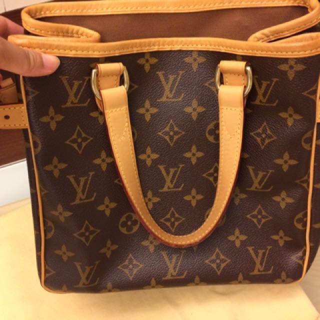 [二手美品含運] LV (Louis Vuitton) M51156 經典logo手提托特包
