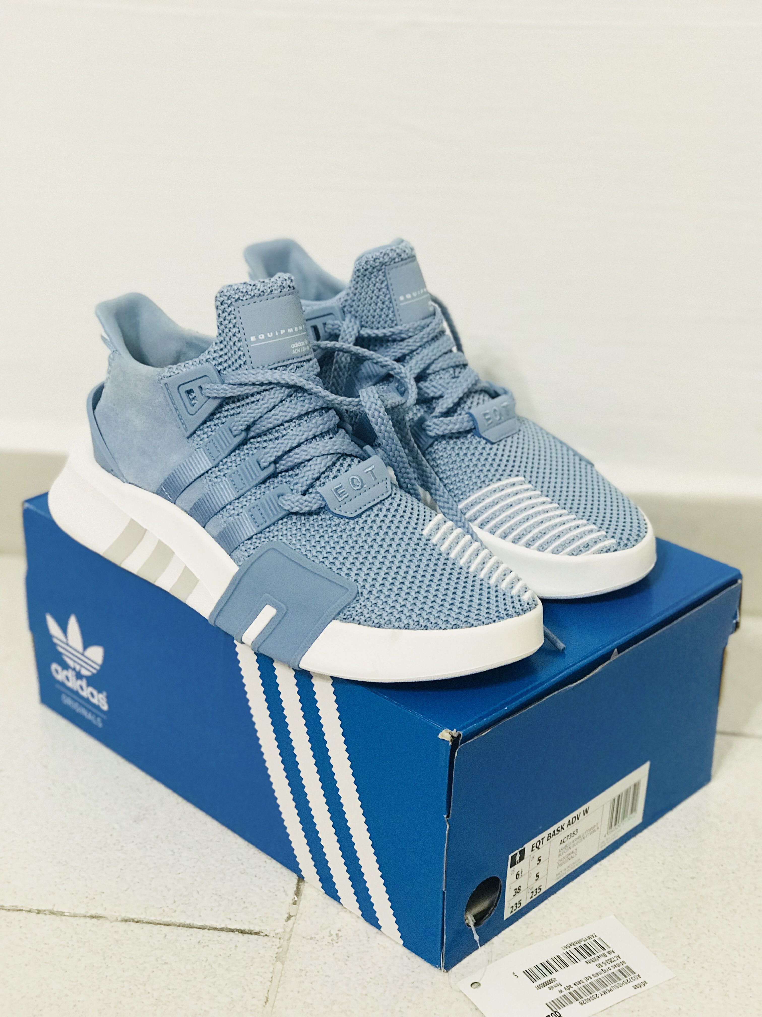 super popular d639a af177 Adidas EQT Bask ADV Blue, Women's Fashion, Shoes on Carousell